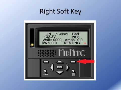 MidNite Solar's Classic MPPT Controller Navigation