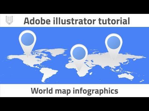 How to create World map infographics. Adobe illustrator tutorial