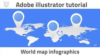 How to create World map infographics. Adobe illustrator tutorial