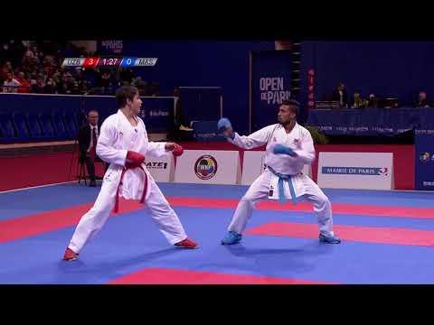 Grand Winner Sadriddin Saymatov in action ahead of Karate 1-Premier League Rotterdam!