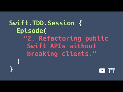 S02E02: Refactoring public Swift APIs without breaking clients | Professional iOS Engineering Series thumbnail