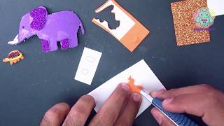 Wild Animals Zoo Cut and Paste for Kids 3 - Turtle, Elephant and Monkey | Crafts For Kids