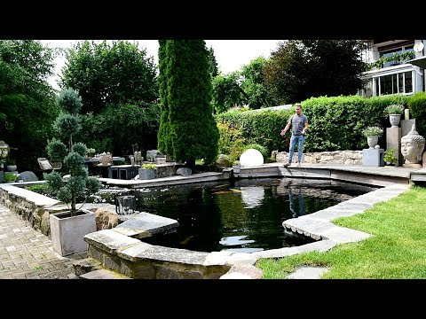 Modern Koi Blog #1907 - Carlos schick gestalteter 70.000 Liter Teich