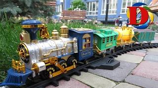 Мой первый поезд. Паровоз с дымом. Детский паровозик. Railroad classic train with smoke steam