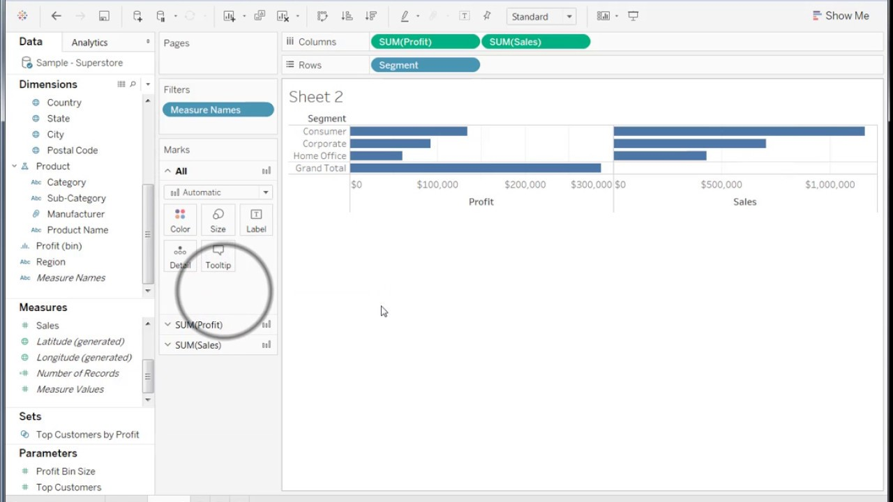 How to hide some grand total values in Tableau