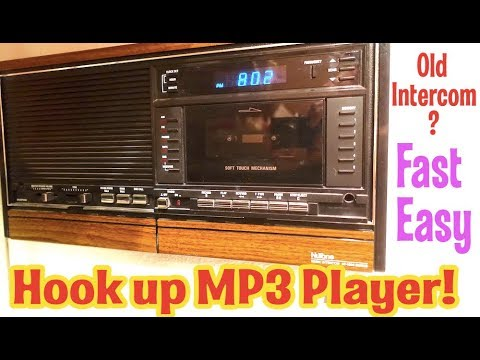 Random Life Hack- How to Hook up MP3 player or iPod to old NuTone Intercom panel