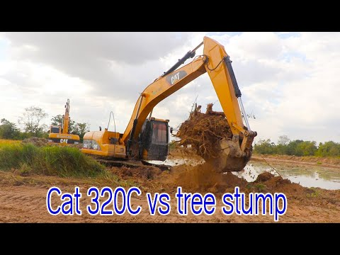 Awesome Cat 320C Rice Fields Clearing For New Highway Construction
