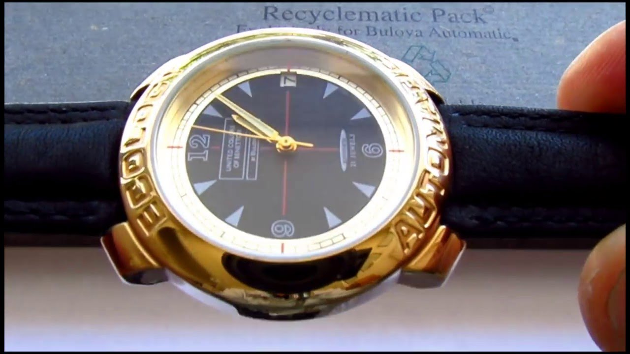 Benetton by bulova ecology automatic wristwatch youtube for Benetton watches
