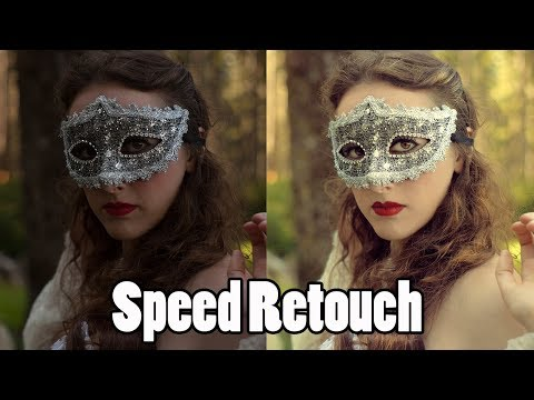 Masquerade Transformation Speed Edit Retouch Timelapse (Adobe Photoshop Tutorials CC Creative Cloud)