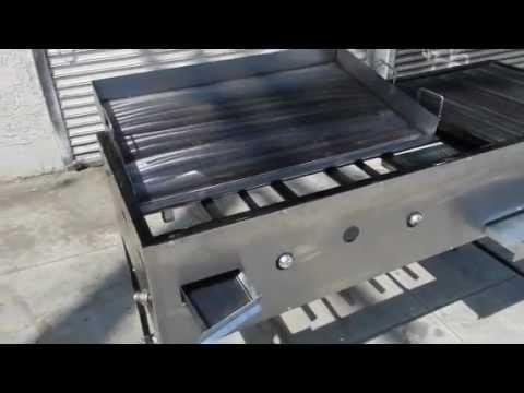 Plancha de fierro con parrilla y quemador de alta presion - Planchas para cocinar a gas ...