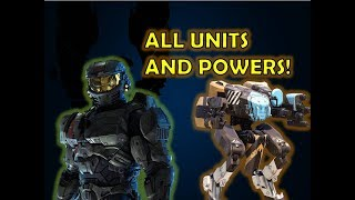 COMMANDER JEROME ALL UNITS AND LEADER POWERS SHOWCASE! - Halo Wars 2 leader DLC GAMEPLAY