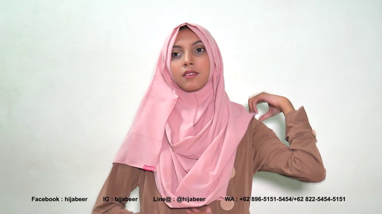 24 Tutorial Jilbab Pashmina Instan Mala By Hijabeer Diamond