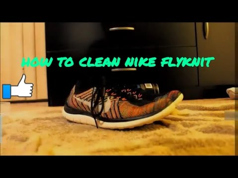 how to clean nike flynit
