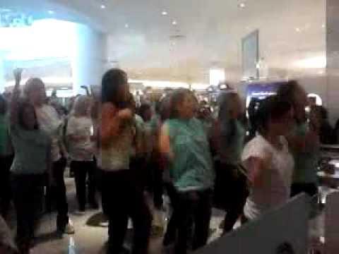 Hello Flash Mob Estee Lauder Galleria Houston