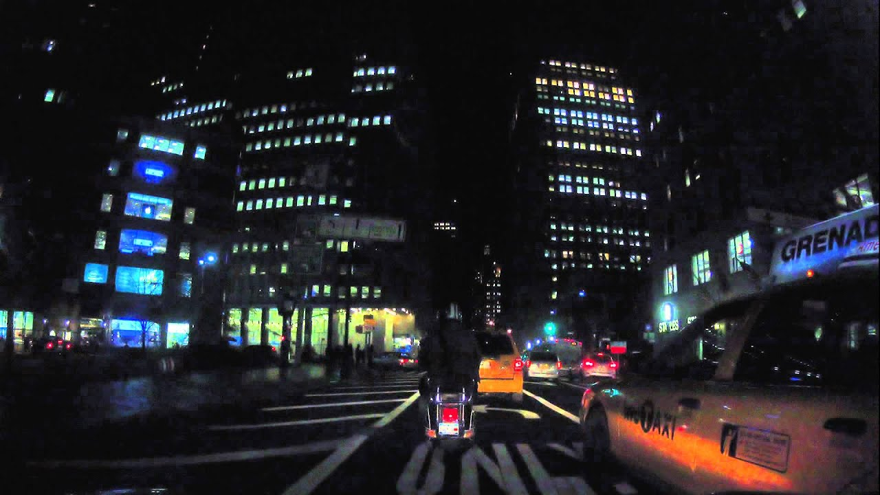 time lapse nyc night time drive from hell s kitchen to red hook