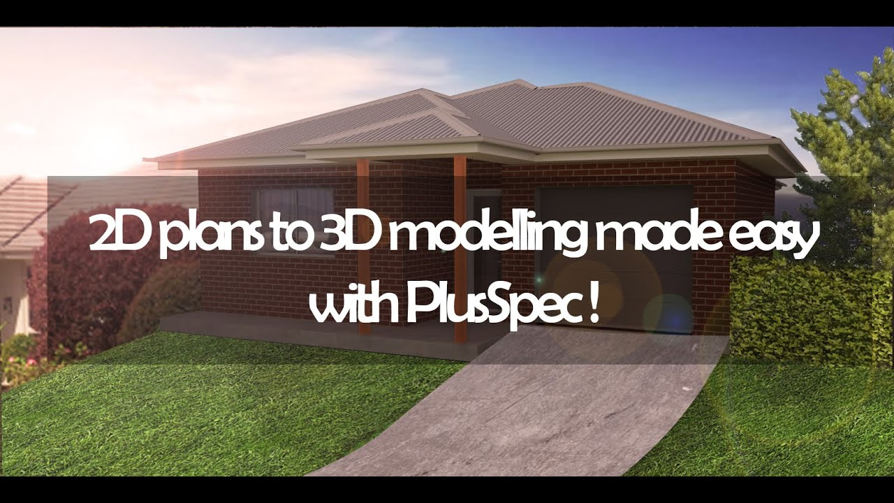 2d plans to 3d modelling made easy with plusspec software in 2d plans to 3d modelling made easy with plusspec software in sketchup
