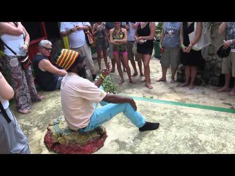 Rastafarian tour guide Captain Crazy at Nine Mile, Jamaica