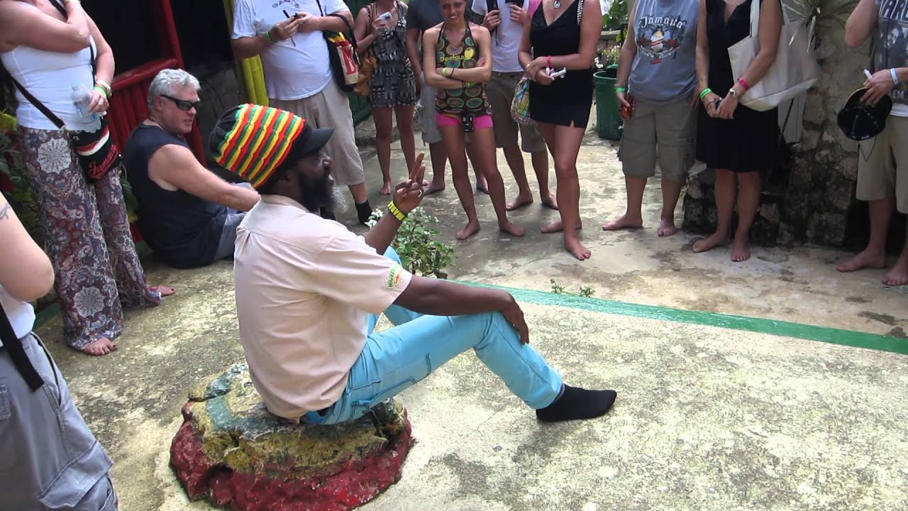 Rastafarian Tour Guide Captain Crazy At Nine Mile Jamaica