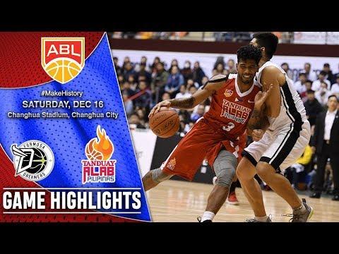 Formosa Dreamers vs Tanduay Alab Pilipinas | Game 18 Highlights | December 16, 2017