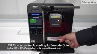 CLNX Application Enabled Printing (AEP) LCD Customisation According to Barcode Data