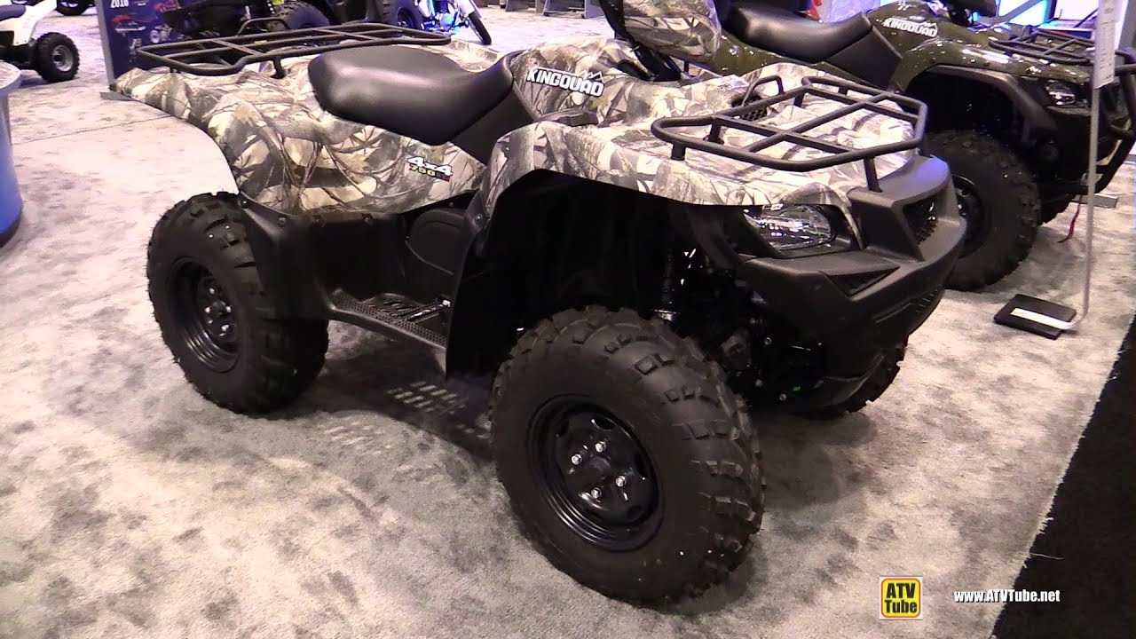 2016 Suzuki King Quad 750 ASi Camo Utility ATV - Walkaround - 2015