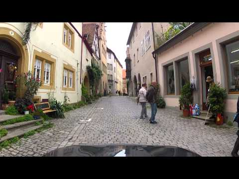 Driving in Rothenburg ob der Tauber, Germany