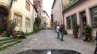 Driving in Rothenburg ob der Tauber, Germany