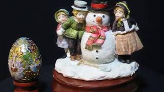 X'mas (snowman and kids) music box series