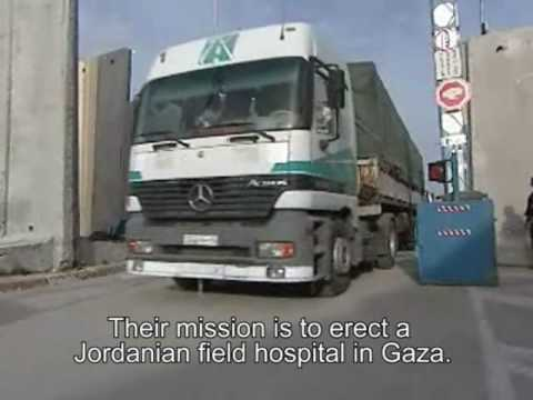 Transfer of humanitarian aid from Jordan