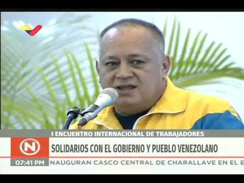 Diosdado Cabello en 1er encuentro internacional de trabajadores, 29 agosto 2019
