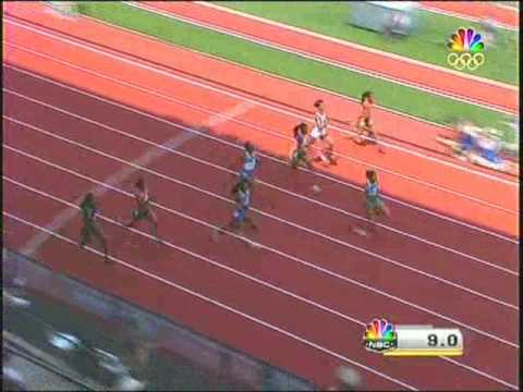 Olympic Trials Womens 100 Semifinal2 2008 USA Track & Field