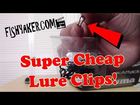 Super Inexpensive Snap Clip Fishing Lure Connectors: Episode 595
