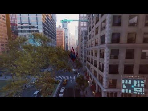 Spider-man PS4 - Sam Raimi theme swinging in New York streaming vf