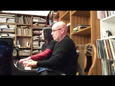 Dennis Russell Davies & Maki Namekawa play the interlude from Philip Glass's opera The Voyage