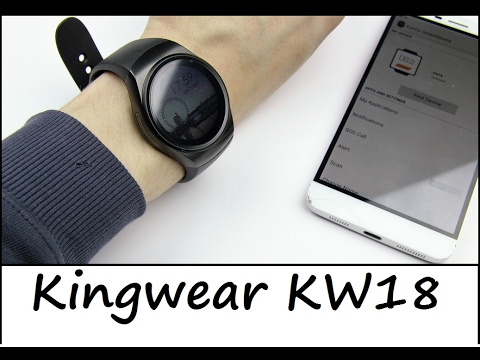 China Smartwatch Kingwear KW18 - iOS / Android - Review - Deutsch