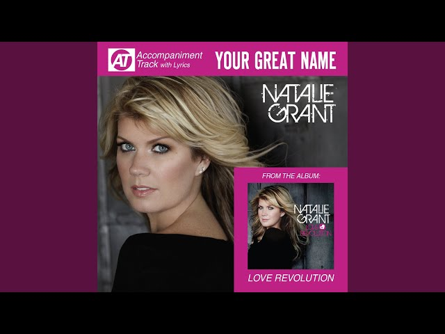 Your Great Name (Low Key Accompaniment Track)