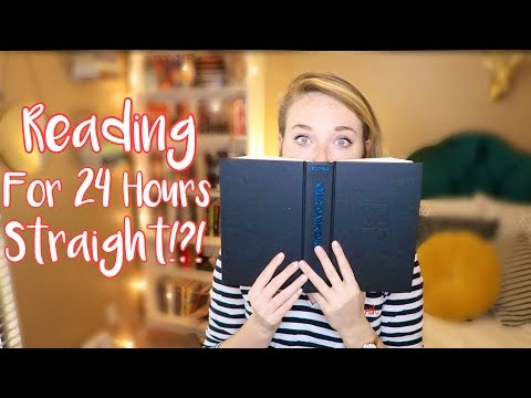 READING FOR 24 HOURS STRAIGHT?! Read-a-thon Vlog!