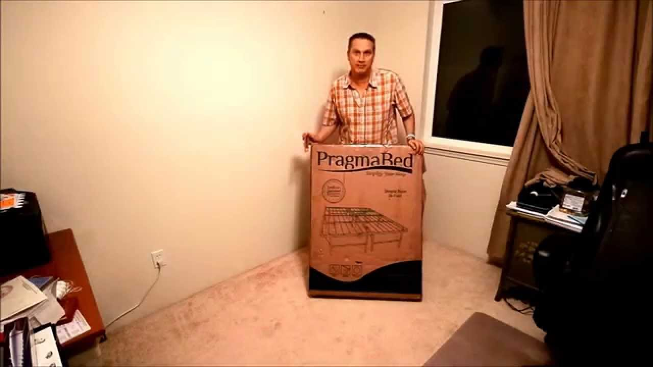 unboxing pragma bed simple base bi fold bed frame