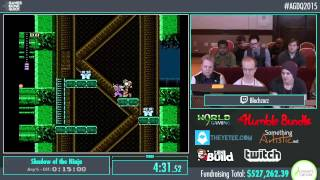 Awesome Games Done Quick 2015 - Part 125 - Shadow of the Ninja by Blechy