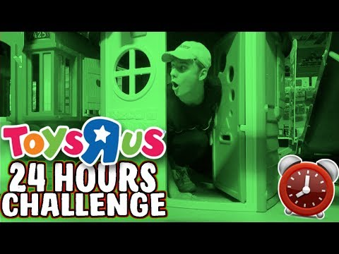 24 HOUR OVERNIGHT CHALLENGE IN TOYS R US!! *SUCCESS*