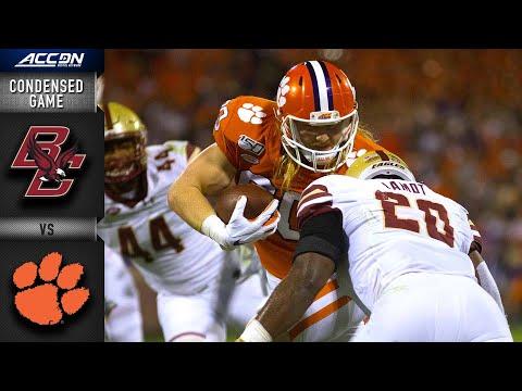 Boston College Vs. Clemson Condensed Game   ACC Football (2019-20)