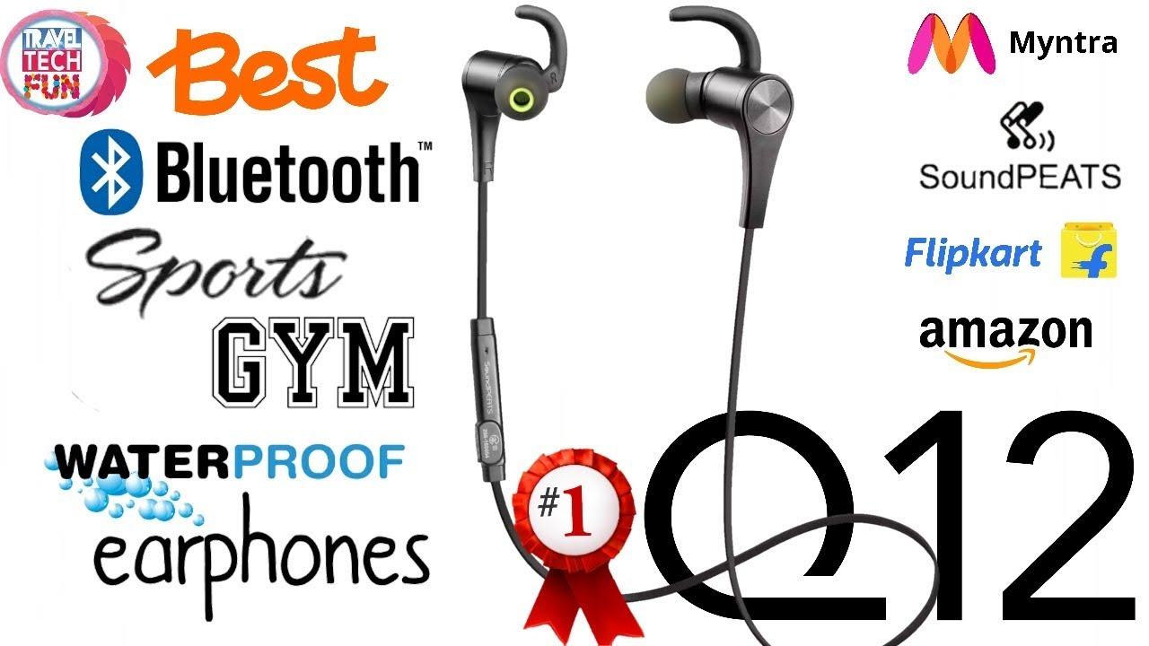 ca6ee00fce9 Soundpeats Q12 Best Bluetooth Earphone 2018 - YouTube