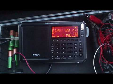 Voice of the Broad Masses 1, 7140 kHz, Eritrea, copied with Eton Satellit & Boni Whip