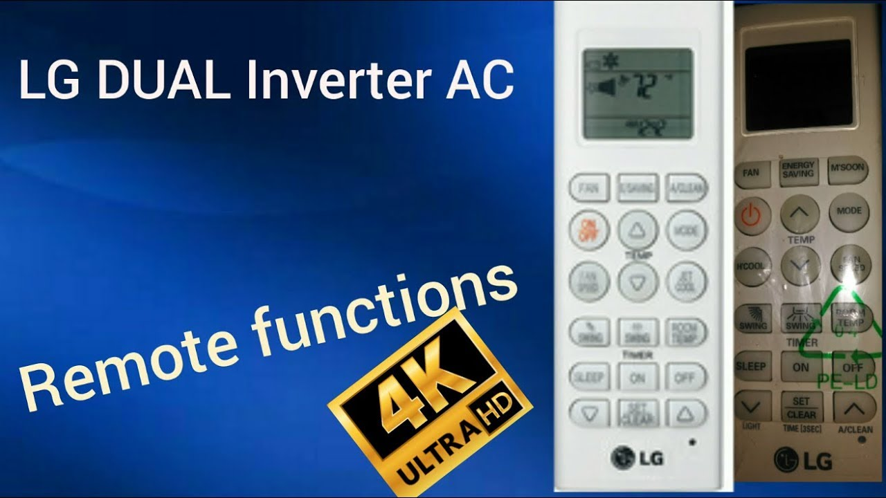 LG DUAL Inverter ac [ Remote functions ] and Air filters