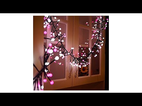 size 40 91338 ce715 Pink & White LED Fairy Lights Waterproof Indoor Outdoor Circle Globe Girls  Decor Guaiboshi SMPOWER