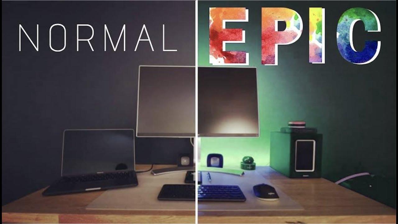 Easy To Install Led Light Strips Epic Rbg Desk Setup