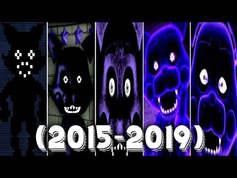 Evolution of SHADOW CANDY in FNAC 1, 2, 3 & Remastered (2015-2019)