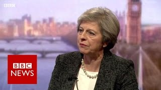 Theresa May 'won't be afraid' to challenge Donald Trump   BBC News