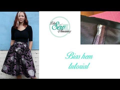 Like Sew Amazing Vlog 17 - Zinnia skirt sewalong and bias bound hem tutorial thumbnail