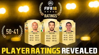 Fifa 18 player ratings 50-41